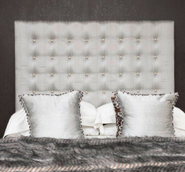 6ft Headboard with Chrome buttons
